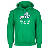Kelly Green Fleece Hoodie-Swimming and Diving