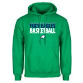 Kelly Green Fleece Hoodie-Basketball Stacked