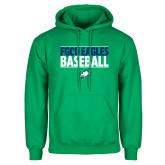 Kelly Green Fleece Hoodie-Baseball Stacked
