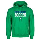 Kelly Green Fleece Hoodie-Stacked Soccer