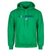Kelly Green Fleece Hoodie-Volleyball w/ Ball