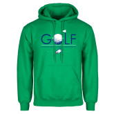 Kelly Green Fleece Hoodie-Golf Flag and Ball