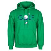 Kelly Green Fleece Hoodie-Golf Flag and Ball