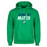 Kelly Green Fleece Hoodie-Game Set Match Tennis