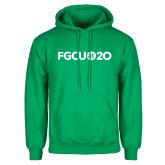 Kelly Green Fleece Hoodie-FGCU at 20 Flat