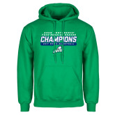 Kelly Green Fleece Hood-Regular Season Champions 2017 Mens Basketball Bar Design