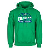 Kelly Green Fleece Hood-Regular Season Champions 2017 Mens Basketball Half Ball Design