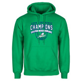 Kelly Green Fleece Hoodie-ASUN Champions 2017 Mens Basketball