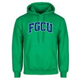 Kelly Green Fleece Hoodie-Arched FGCU