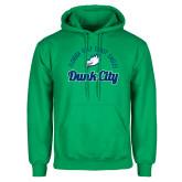 Kelly Green Fleece Hoodie-Dunk City Script