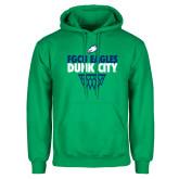 Kelly Green Fleece Hoodie-Dunk City Stacked w/ Net
