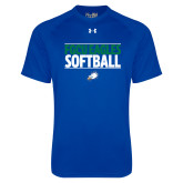 Under Armour Royal Tech Tee-Softball Stacked
