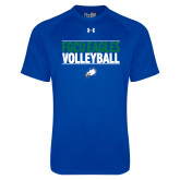 Under Armour Royal Tech Tee-Volleyball Stacked