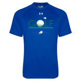 Under Armour Royal Tech Tee-Golf Flag and Ball