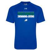 Under Armour Royal Tech Tee-Swimming and Diving Stacked