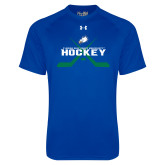 Under Armour Royal Tech Tee-Hockey Crossed Sticks w/ Puck