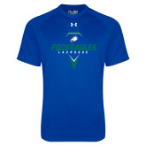 Under Armour Royal Tech Tee-Lacrosse Abstract Stick