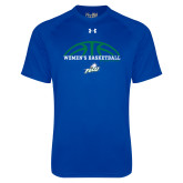Under Armour Royal Tech Tee-Basketball Half Ball