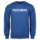 Royal Fleece Crew-FGCU at 20 Flat