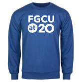 Royal Fleece Crew-FGCU at 20 Stacked