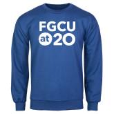 Royal Fleece Crew-FGCU at 20 Stacked