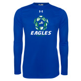 Under Armour Royal Long Sleeve Tech Tee-Soccer Ball Design