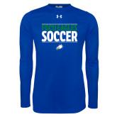Under Armour Royal Long Sleeve Tech Tee-Stacked Soccer