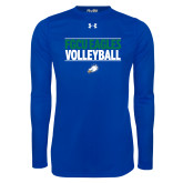 Under Armour Royal Long Sleeve Tech Tee-Volleyball Stacked