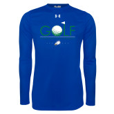 Under Armour Royal Long Sleeve Tech Tee-Golf Flag and Ball