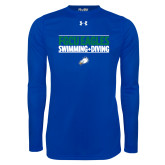 Under Armour Royal Long Sleeve Tech Tee-Swimming and Diving Stacked