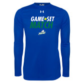 Under Armour Royal Long Sleeve Tech Tee-Game Set Match Tennis