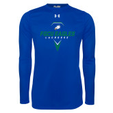 Under Armour Royal Long Sleeve Tech Tee-Lacrosse Abstract Stick