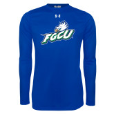 Under Armour Royal Long Sleeve Tech Tee-Primary Athletic Mark