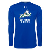Under Armour Royal Long Sleeve Tech Tee-Swimming and Diving