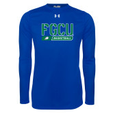 Under Armour Royal Long Sleeve Tech Tee-Basketball Stencil