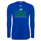 Under Armour Royal Long Sleeve Tech Tee-Basketball Triple Stacked