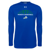 Under Armour Royal Long Sleeve Tech Tee-Basketball Half Ball