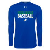 Under Armour Royal Long Sleeve Tech Tee-Baseball Stacked