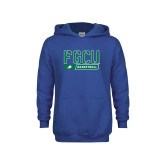 Youth Royal Fleece Hoodie-Basketball Stencil