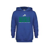 Youth Royal Fleece Hoodie-Basketball Triple Stacked