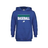 Youth Royal Fleece Hoodie-Baseball Stacked