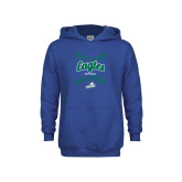 Youth Royal Fleece Hoodie-Softball Seams