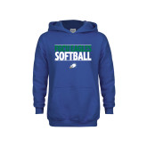 Youth Royal Fleece Hoodie-Softball Stacked