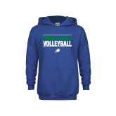 Youth Royal Fleece Hoodie-Volleyball Stacked