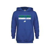 Youth Royal Fleece Hoodie-Swimming and Diving Stacked