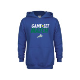 Youth Royal Fleece Hoodie-Game Set Match Tennis