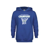 Youth Royal Fleece Hood-Regular Season Champions 2017 Mens Basketball Net Design