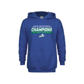 Youth Royal Fleece Hoodie-Regular Season Champions 2017 Mens Basketball Bar Design