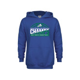 Youth Royal Fleece Hoodie-Regular Season Champions 2017 Mens Basketball Half Ball Design