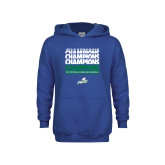 Youth Royal Fleece Hoodie-Regular Season Champions 2017 Mens Basketball Champions Repeating